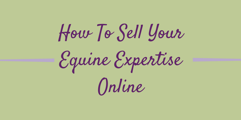 How To Sell Your Equine Expertise Online