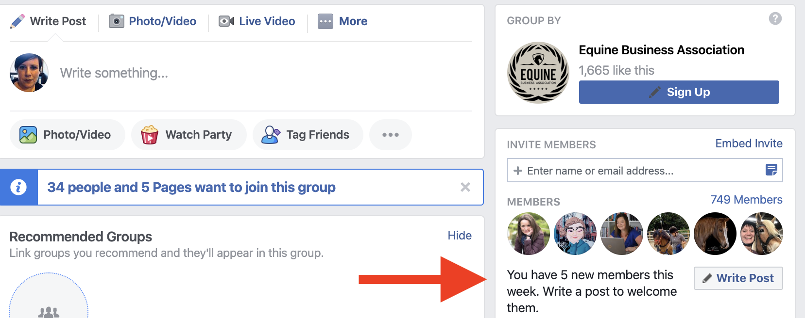 Facebook group bulk welcome
